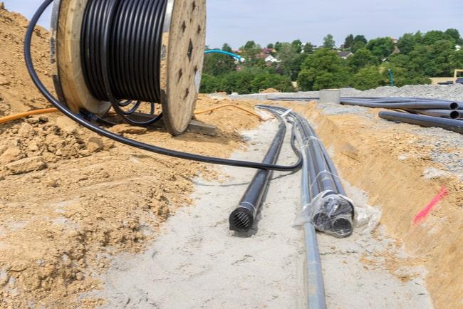 Utgrävning av bredband